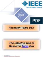 The Effective Use of Research Tools Box - By