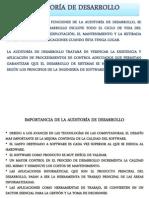 AUDITORÍA DE DESARROLLO