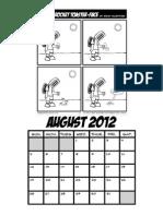 Donnie Rocket Calendar August 2012