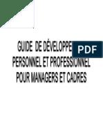 Guide de Developpement Personnel Et Professionnel