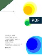 EVOLUCIÓN DEL CONCEPTO MASA