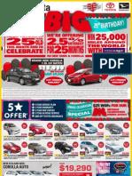 Ilam Toyota 25th Birthday Deals