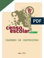 Caderno de Instrucoes Censo Escolar2012 Preliminar