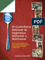 Relatorio Final III Conferencia Nacional de Seguranca Alimentar e Nutricional
