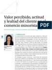 UBR - Valor Percibido, Actitud y Lealtad Del Cliente