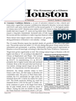 Houston Economy at a Glance - August 2012