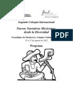 Programa Nuevas Narrativas Mexicanas