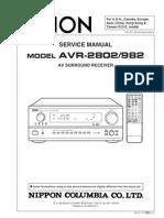 Denon Avr2802 Avr982