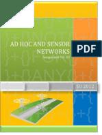 Adhoc & Sensors Networks - Assignment No. 03