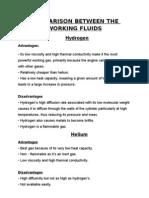 Comparison Between the Working Fluids