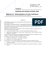 As 4459.12-1999 Methods of Sampling and Testing Ceramic Tiles Determination of Frost Resistance