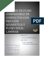 ANÁLISIS DE FLUJO COMPRESIBLE EN CONDUCTOS CON FRICCIÓN