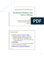Sentiment Analysis Tutorial 2012