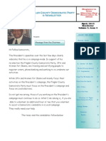 April, 2012 Newsletter