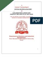 34631625 Summer Training Report Alok Industries Ltd Vapi