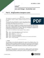 As 4689.2-2004 Fresh Cut Flowers and Foliage - Australian and Related Flora Anigozanthos (Kangaroo Paw)
