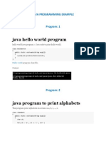 Java Programming Example