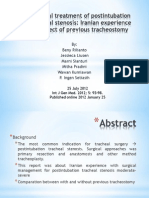 Surgical Treatment of Postintubation Tracheal Stenosis