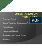 Orientation on Timesheet