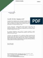 """Comunicato Alberto Lucarelli del 3 Agosto 2012 riguardo """"Una spiaggia per tutti"""""""