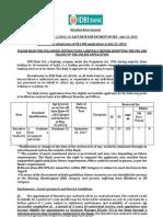 Notification IDBI Bank Executive Posts