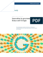 Innovation in Government-Kenya and Georgia