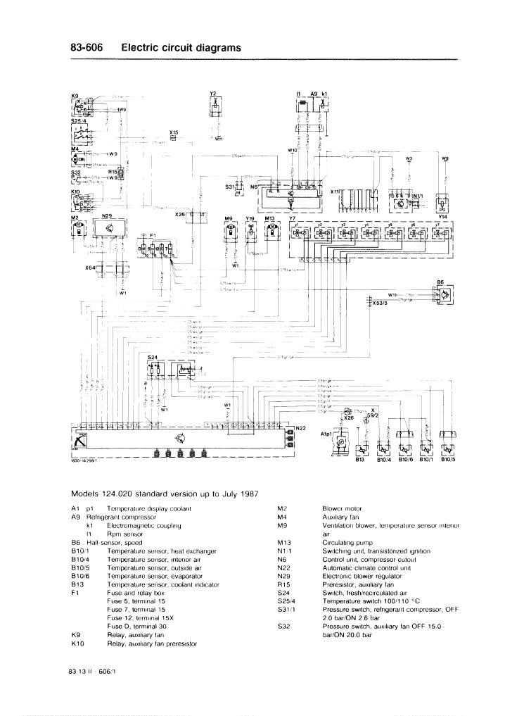 Electric Circuit Diagrams 83-606 W124 on 3 phase motor control diagrams, motor diagrams and symbols, motor control electrical, motor control tools, industrial motor control diagrams, 3 phase motor winding diagrams, motor control lights, motor star delta starter diagram, motor reversing switch wiring diagram, motor control starter, square d motor control diagrams, motor control parts, motor control ladder diagrams, motor control circuit, motor control software, electrical diagrams, cutler hammer mcc bucket diagrams, motor operated valve mov, basic motor controls diagrams, motor control body,