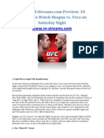 UFC on M-Streams.com Preview 10 Reasons to Watch Shogun vs Vera on Saturday Night