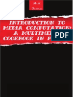 Introduction to Media Computation a Multimedia Cookbook in Python