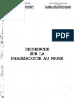 recherche sur la pharmacopée au niger (Réalisé avec le Concours Financier de l'UNESCO)