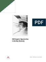 b 2 b Supplier Oppotunity in New Economy
