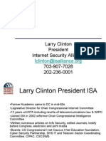 2009 10 02 Larry Clinton ISA Overview Geared to Estonian Foreign Affairs People