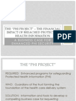 2012 03 21 Mary Chaput Clearwater Compliance ISA ANSI Santa Fe Group the Financial Impact of Breached Protected Health Information PHI Webinar Presentation