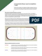 Exigences de protection Niveau 1 pour les compétitions sur courte piste (FEC < 0,30)