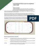 Exigences de protection Niveau 2 pour les compétitions sur courte piste (FEC 0,30 à <0,60)