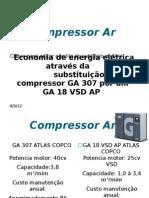 GERAÇÃO AR COMPLIMIDO - EFICIENCIA ENERGÉTICA