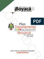 Plan Departamental de Desarrollo Boyacá se Atreve 2012 - 2015