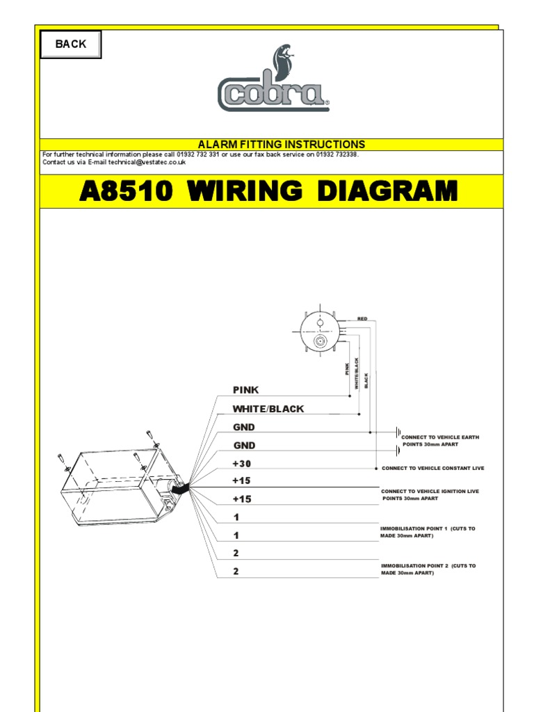 8510 Immobilizer Wiring Diagram