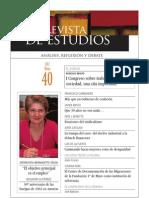 Revista de Estudios, nº 40, mayo 2012