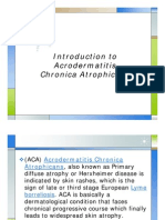 Introduction to Acrodermatitis Chronica Atrophicans