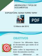 Elaboracion y Tipos de Documentos