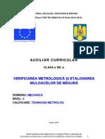 Verificarea Metrologica Si Etalonarea Mijloacelor de Masurare