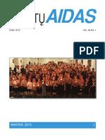 Skautų Aidas - žiema 2012 m. Vol. 89 No.1