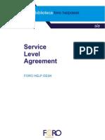 Ejemplo de Un Service Level Agreement