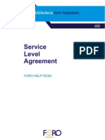 Ejemplo de Un Service Level Agreement