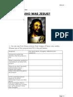 Worksheet to Accompany Jesus Lesson 1 & 2