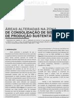 Áreas alteradas na Zona de Consolidação de Sistemas Sustentáveis