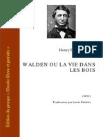 Thoreau Walden Ou La Vie Dans Les Bois