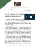 O acordo ortográfio-uma questão de PL