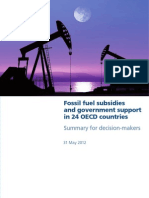 Fossil fuel subsidies and government support in 24 OECD countries